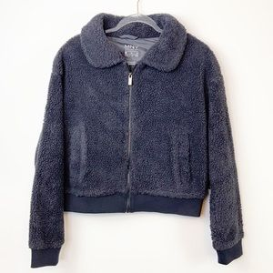 NWT Marc New York Faux Shearling Grizzly Bomber M